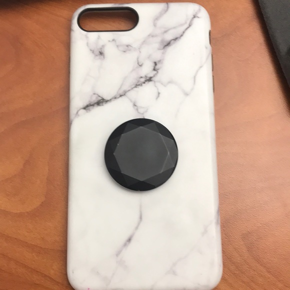 super popular f8a9a 7370d Marble case for iPhone 7 Plus w/popsocket